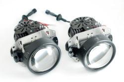 Светодиодные би-линзы размером 3,0'. Сила света 800 lux. Мощные вентиляторы активного охлаждения. Срок службы до 50000 часов. Гарантия 12 мес.