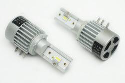 Мощные LED лампы с активным охлаждением. Цоколь Н15 дальний + ДХО. Правильная свето-теневая граница